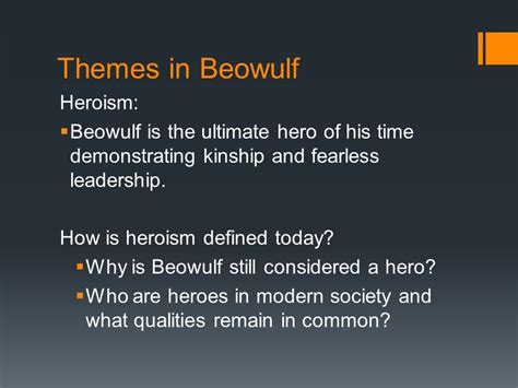 Themes In Beowulf That Relate To Today | anglo saxons beowulf ppt video online download