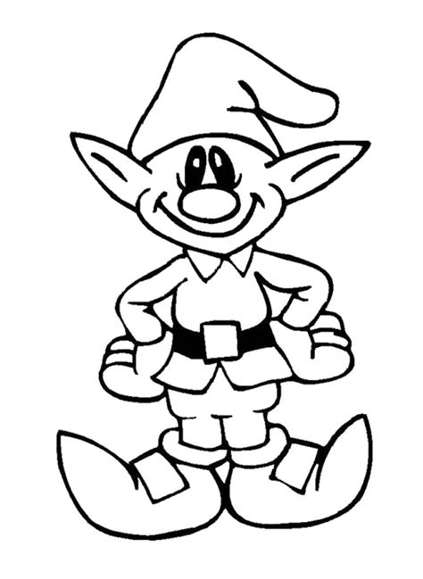 cute coloring pages of elves father christmas pictures to colour cliparts co