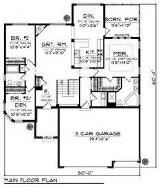 Square Feet Of 3 Car Garage 1000 Images About House Plans On Pinterest Bedroom