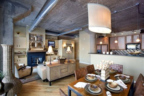 vintage style chicago loft condo with concrete ceiling