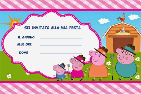 peppa pig birthday card template inviti di compleanno per bambini da stare gratis