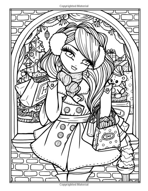 libro a whimsy girls christmas amazonsmile a whimsy girls christmas coloring book festive girls fairies more