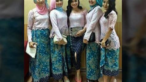 model baju seragam kebaya 15 model baju muslim kebaya modern kombinasi brokat untuk