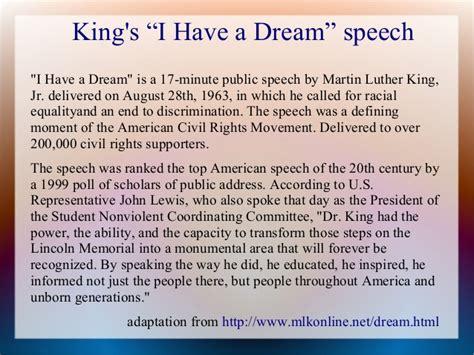 I A Speech Text Printable