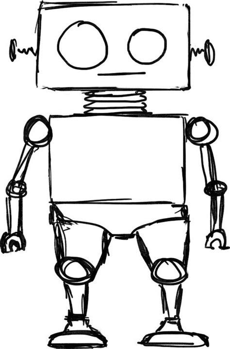 doodlebug drawing robot doodle a day 46 robot sketch wip drawings