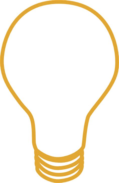 Light Bulb Outline Png by Yellow Light Bulb Clip At Clker Vector Clip Royalty Free Domain