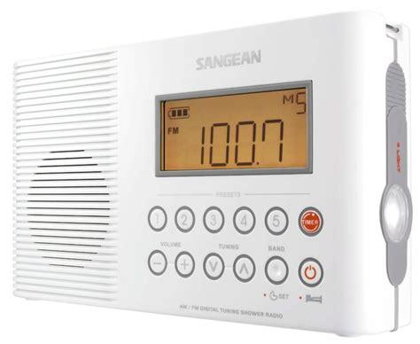 radio for bathroom sangean waterproof shower radio cool tools