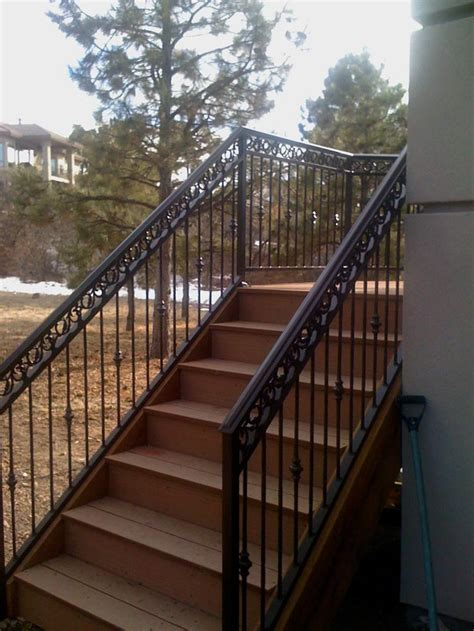 Exterior Stair Handrails Taylored Iron Custom Iron Works Taylored For You