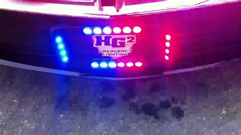 license plate emergency lights hg2 emergency lighting crossfire license plate frame