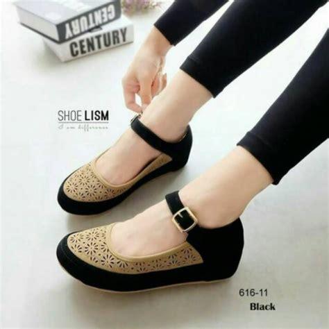 Sepatu Olahraga Poxing Slip On Flat Hitam Wanita Sekolah Nike Adidas jual sepatu wanita branded murah mataharimall
