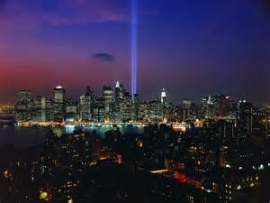 new york lights tribute in light september 11th memorial display new york