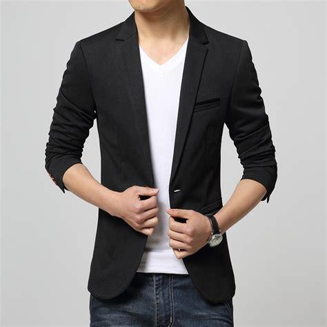 Jaket Blazer Korea Mens Casual Suit Jacket Dress Yy