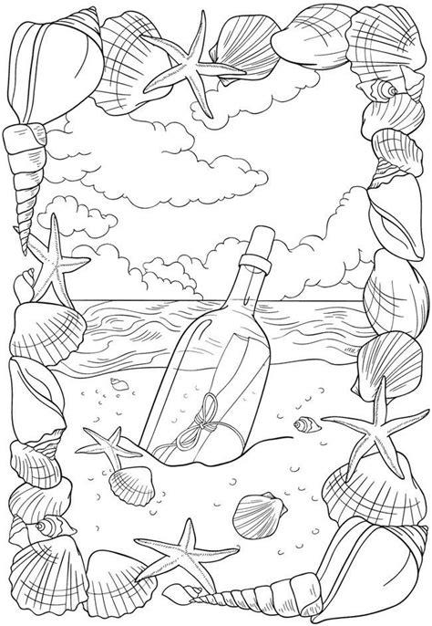 messagebottlepage work oceanbeach coloring coloring