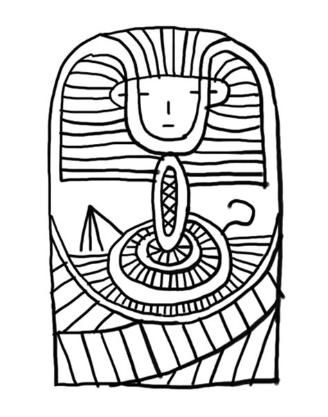 king tut coloring page queen cleopatra clipart best