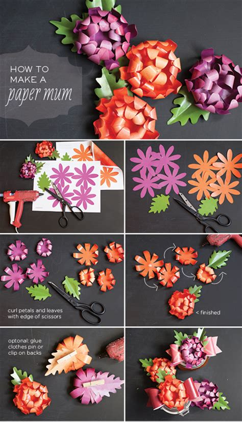 How To Make Paper Mums - home dzine craft ideas how to make paper mums