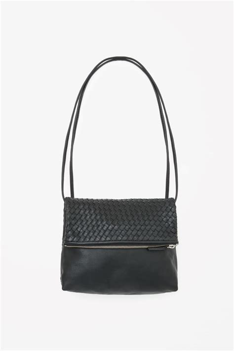 Braided Leather City Bag - cos image 3 of braided leather bag in black bags