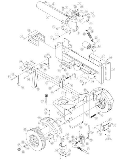 huskee log splitter parts diagram troy bilt 24bf572b711 ls27 parts list and diagram 2006
