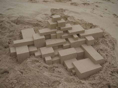 calvin seibert abstract geometric sandcastles by new york based