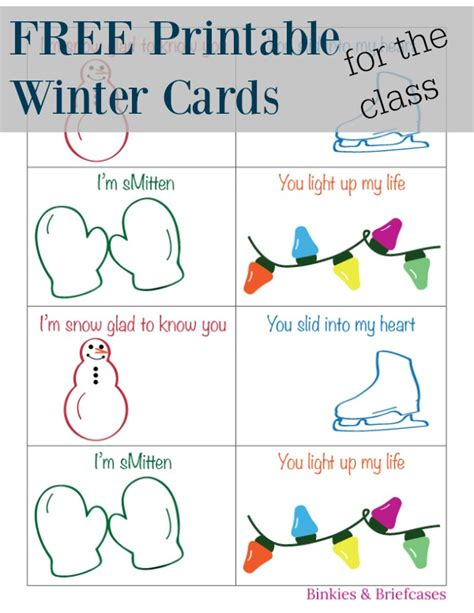 printable student postcards winter and christmas cards for the classroom