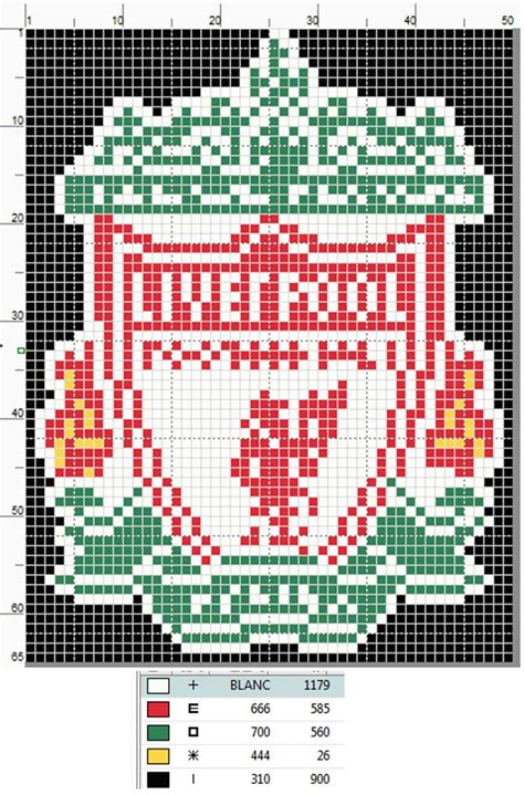 pattern maker newcastle liverpool fc logo cross stitch pattern by