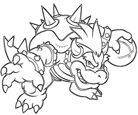bowser coloring pages smash bros bowser free coloring pages