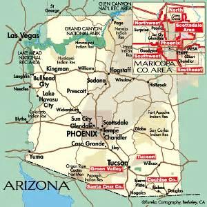 arizona map mountain ranges