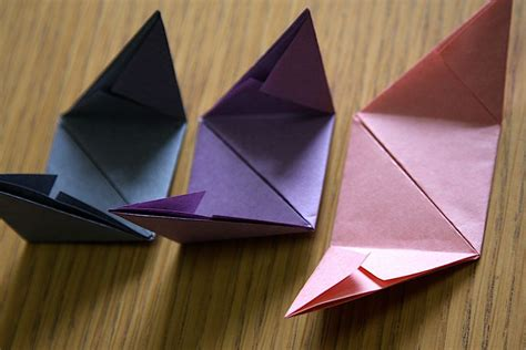 Origami Triangle Pieces - origami cube tutorial origami