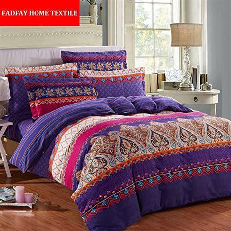 exotic bedding fadfay home textile modern paisley print duvet covers fashion exotic boho bedding
