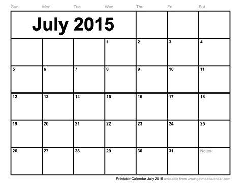 printable monthly calendars july 2015 printable calendar july 2015