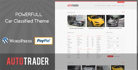 themeforest classified theme autotrader car classified theme wordpress themeforest