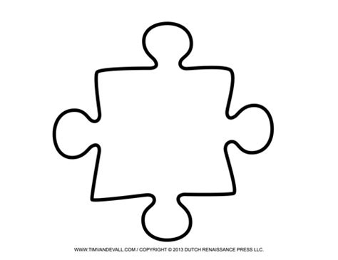 template for puzzle pieces blank puzzle template free single puzzle