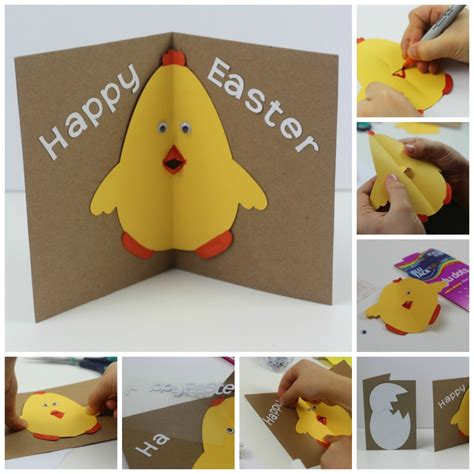 to make with children easter card with pop out beak in the madhouse