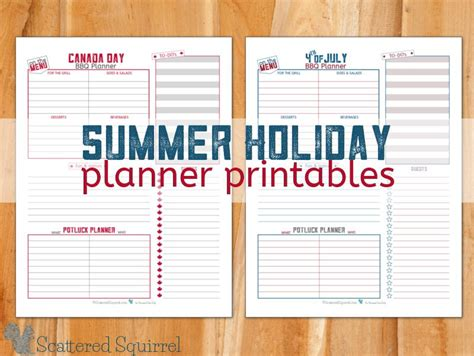 printable school holiday planner free summer holiday planning printables