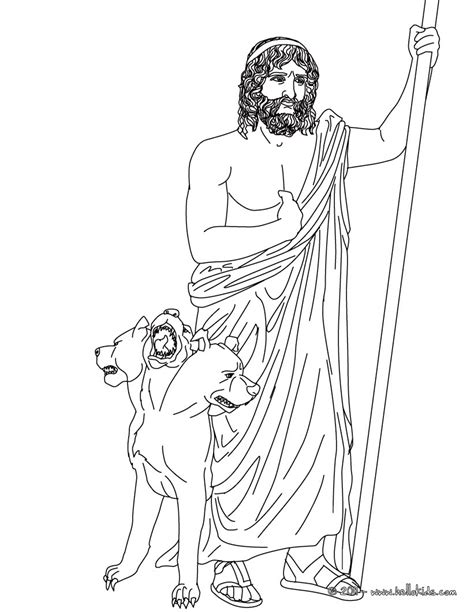 hades greek goddess gods coloring page art pinterest