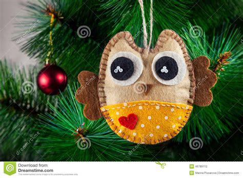 Handmade Owl - handmade owl on the tree stock photo image 46789112