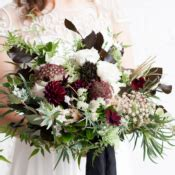 Raida Burgundi organic wedding inspiration featuring minted elizabeth designs the wedding