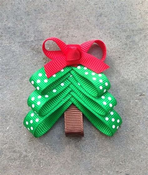 christmas tree hair bow baby girl pinterest