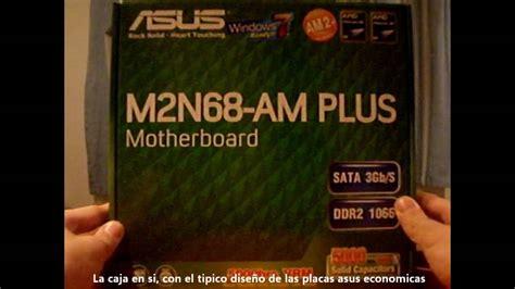 reset bios m2n68 la unboxing asus m2n68 am plus youtube
