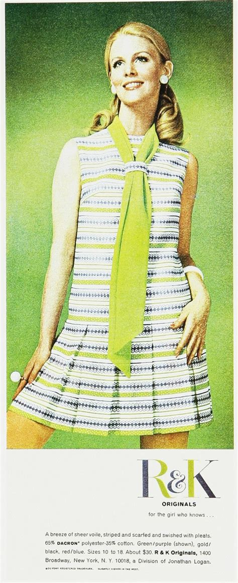 vintage clothes fashion ads of the 1970s