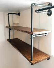 diy industrial pipe shelving chris