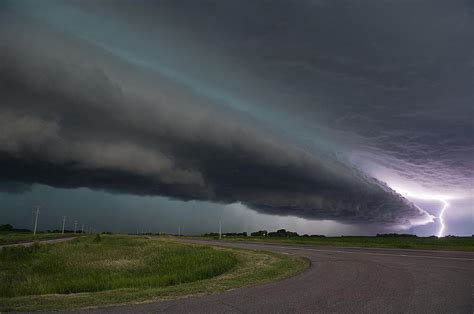 shelf cloud and lightning photograph by brindley