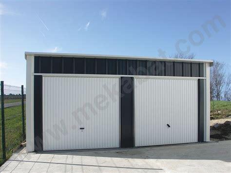 Double Car Garage Plans by Abris Voiture En Kit Carport Abris M 233 Tallique En Kit