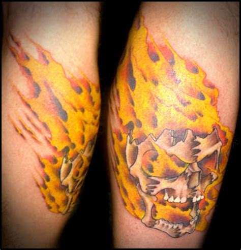 flaming skull tattoo flaming skull for guys design