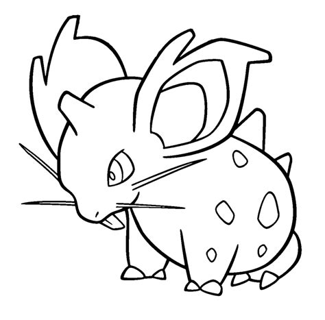 pokemon coloring pages nidoking nidoran female template by shadowxmephiles on deviantart