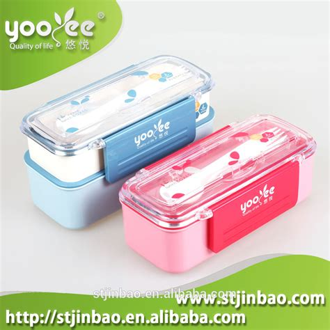Acrylic Potongan jenis gaya jepang pp pp plastik kotak bento makan siang