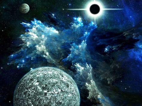 sci fi planets cg digital art sci fi space planets moons nebula stars