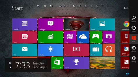 themes for windows 7 movies man of steel windows 7 and windows 8 theme ouo themes