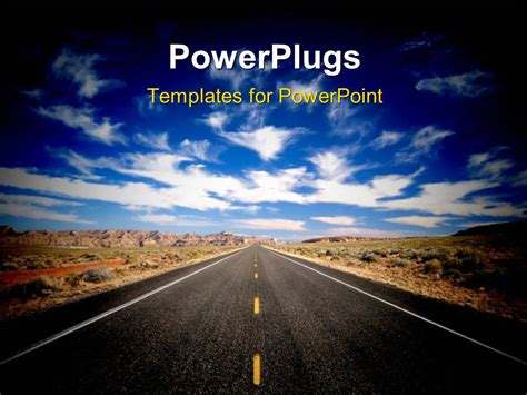 powerpoint template road powerpoint template a road in the outskirts of a city
