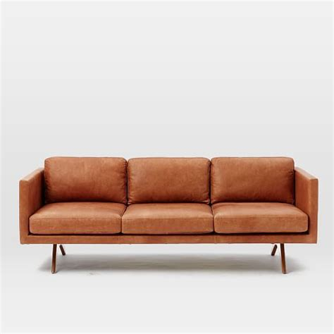brooklyn upholstery brooklyn leather sofa west elm geyserville pinterest