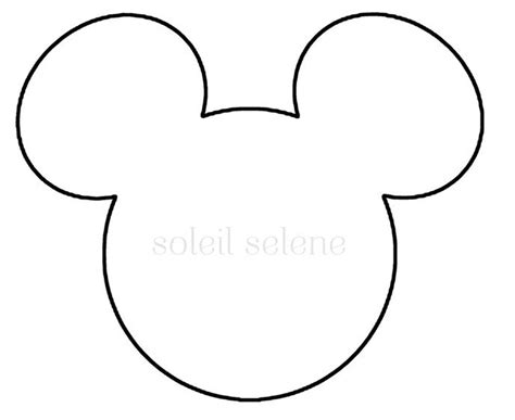 mickey ear template mickey mouse ears printable template pattern